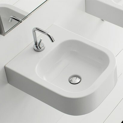 Next Ceramic Rectangular Vessel Bathroom Sink by Scarabeo by Nameeks
