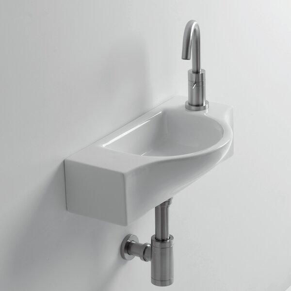 Whitestone Peta Ceramic 18 Wall Mount Bathroom Sink with Overflow