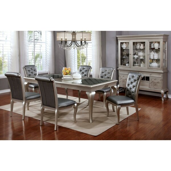 Suzan Contemporary 7 Piece Solid Wood Dining Set by House of Hampton