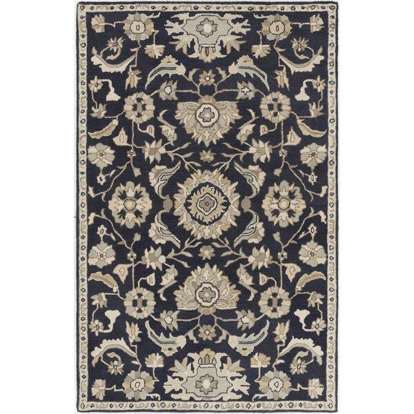 Kempinski Handmade Wool Black/Beige Area Rug by Astoria Grand