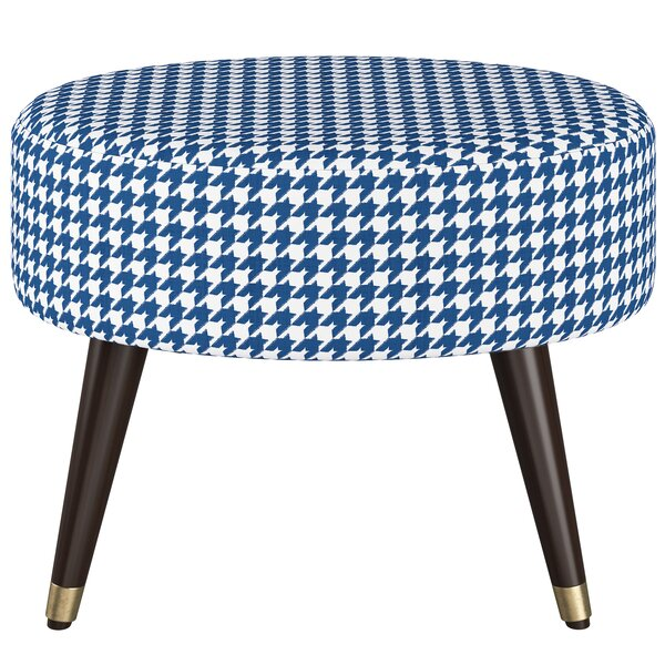 Grise Oval Ottoman by Ivy Bronx