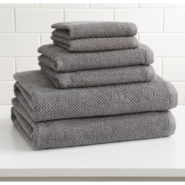 Marin 6 Piece Cotton Bath Towel Set by Alwyn Home