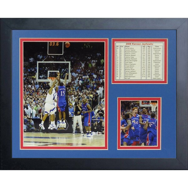 2008 Kansas Jayhawks The Shot Framed Memorabilia by Legends Never Die