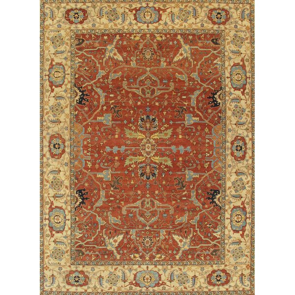 Ferehan Hand-Knotted Rust/Ivory Area Rug by Pasargad