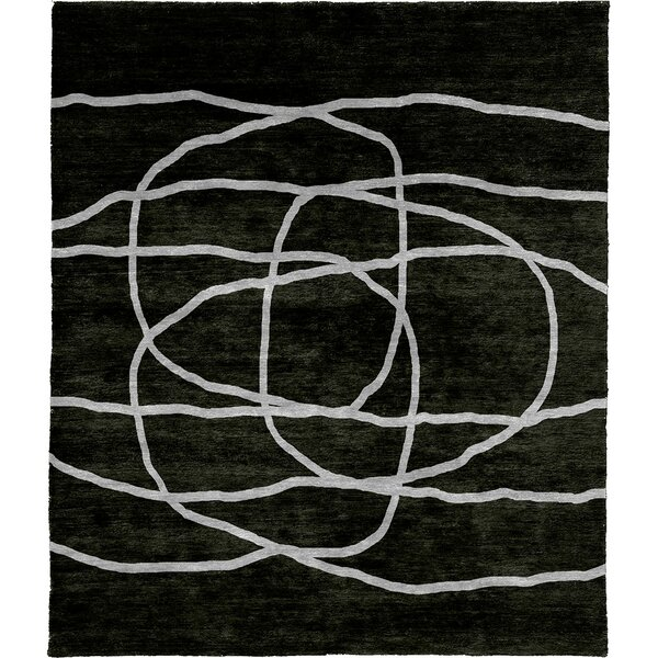 One-of-a-Kind Tilda Hand-Knotted Traditional Style Black 12' x 18' Wool Area Rug