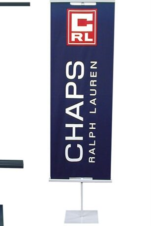 48 - 90 Vertical Adjustable Double-Sided Banner St