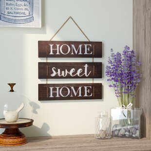 Exceptionnel Home Sweet Home Hanging With Rope Wall Decor