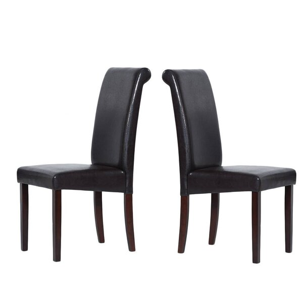 Berchmans Synthetic Leather Upholstered Dining Chair (Set of 2) by Charlton Home