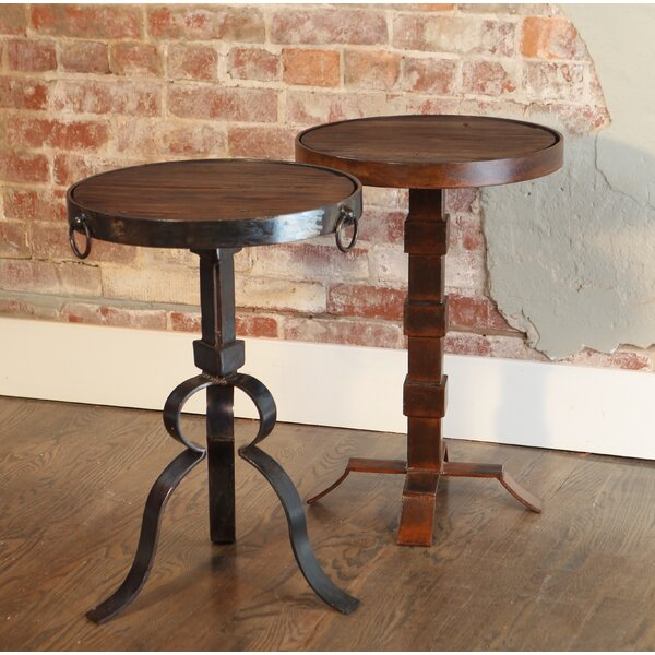 Breanna Round Iron End Table by 17 Stories