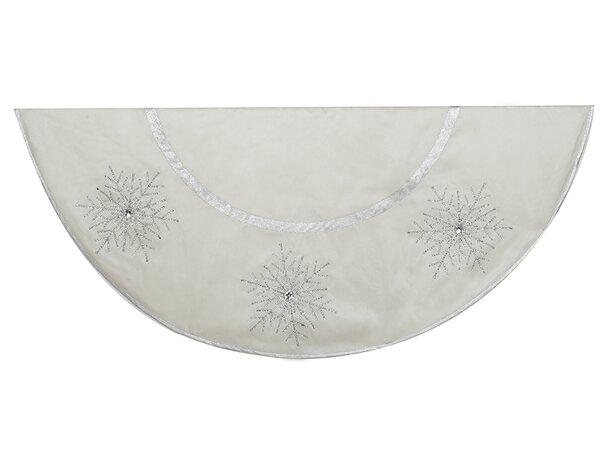 Crystal Lace Snowflakes Treeskirt by Kurt Adler