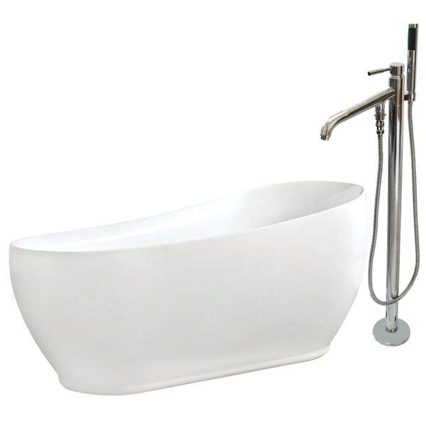 71 x 33 Freestanding Soaking Bathtub by Kingston Brass