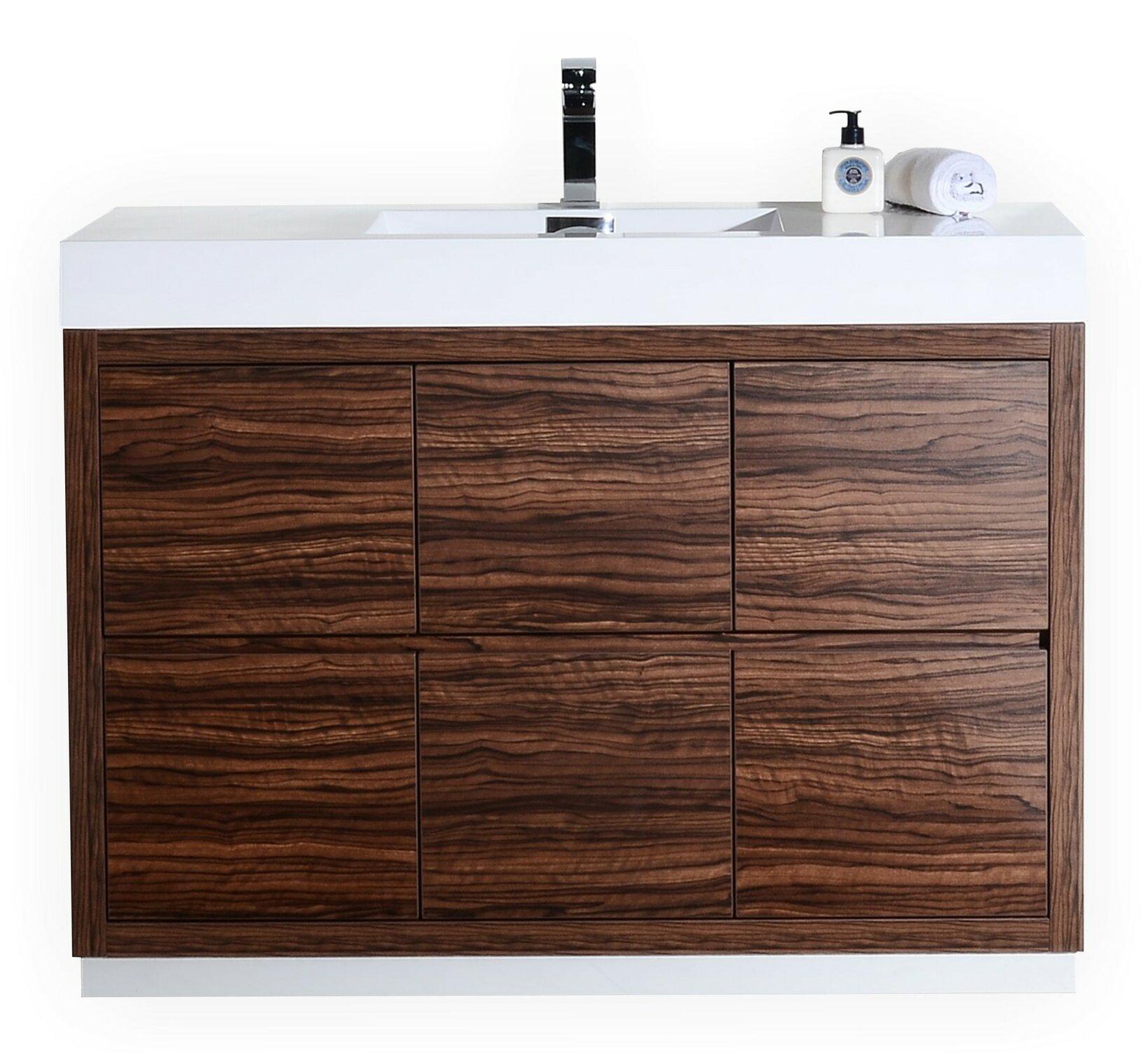 Tenafly 48 Single Free Standing Modern Bathroom Vanity Set &