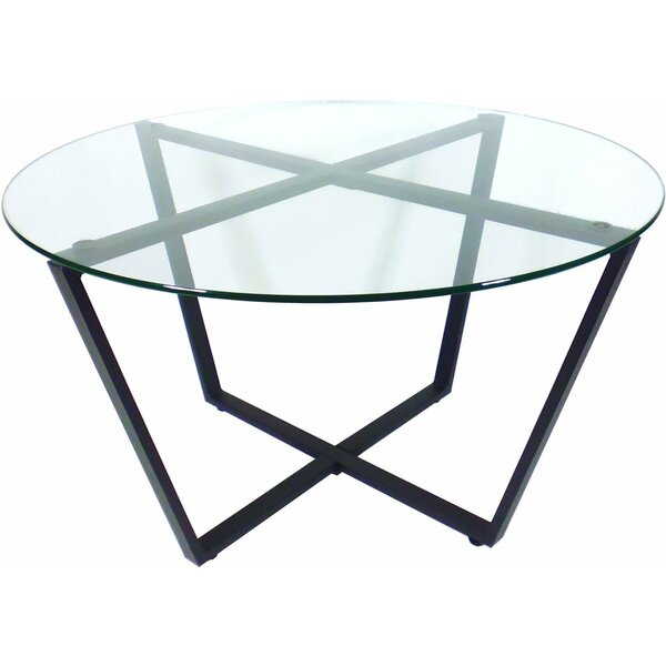Moby Glass Coffee Table by Ebern Designs