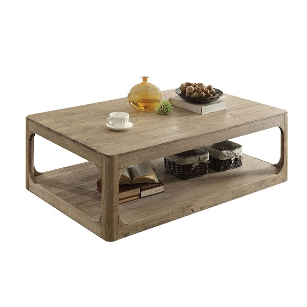 Ricks Lower Shelf Wood Coffee Table by Loon Peak