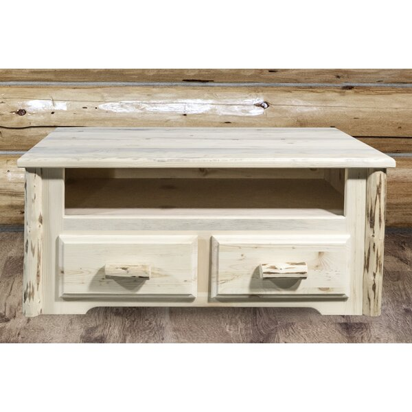 Montana Collecton Solid Wood Floor Shelf Coffee Table With Storage By Montana Woodworks®