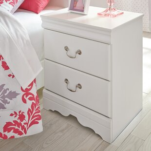 Kurt 2 Drawer Nightstand Harriet Bee
