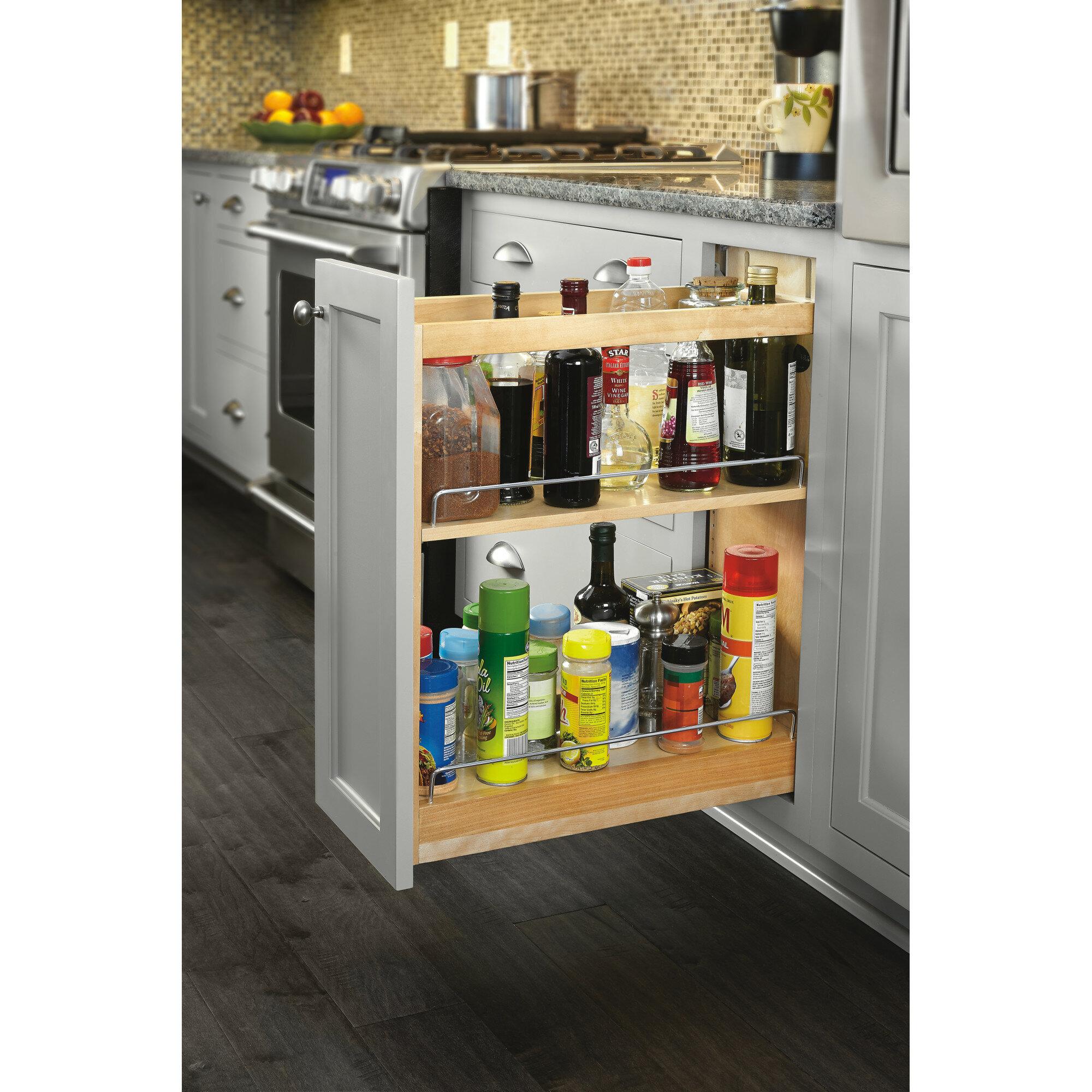 Rev A Shelf Soft Close Base Cabinet Organizer Pull Out Pantry Reviews Wayfair