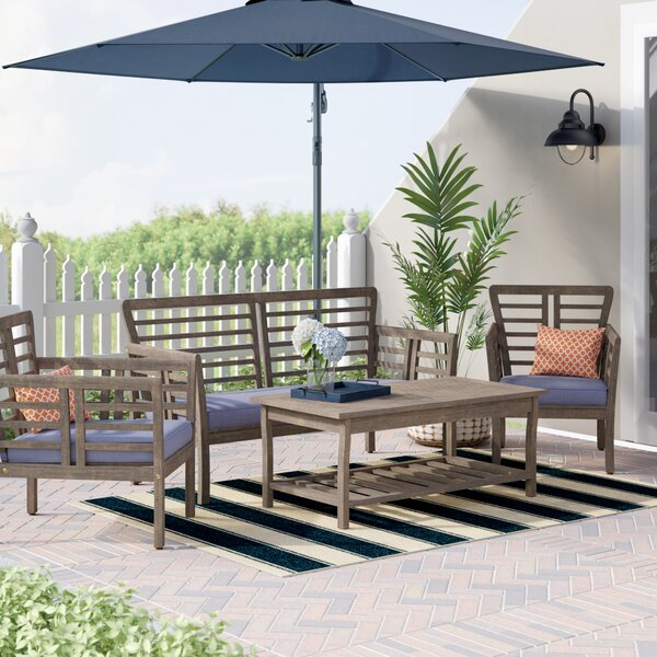 Maryanne 4 Piece Sofa Seating Group with Cushions by Beachcrest Home