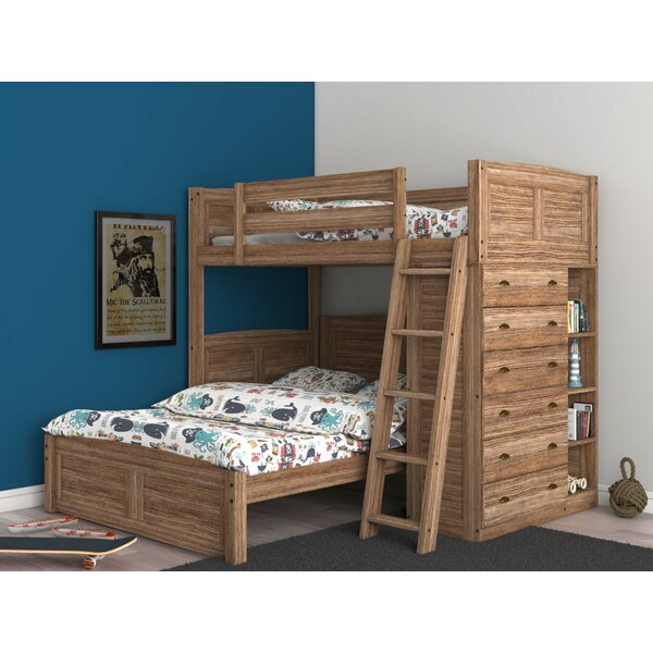 Batista Twin Over Full L-Shaped Bunk Bed with Bookcase and Drawers by Harriet Bee
