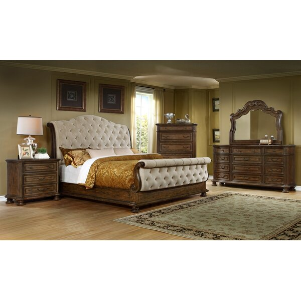 Altom Queen Sleigh 4 Piece Bedroom Set by Darby Home Co
