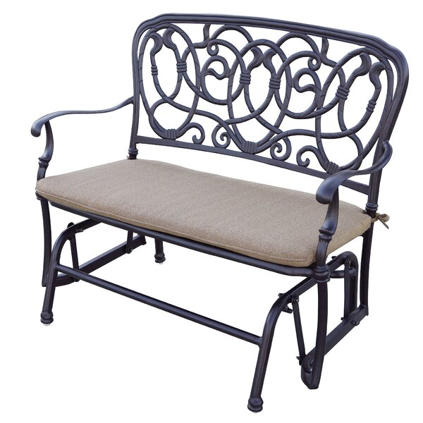 Dolby Glider Bench with Cushion by Astoria Grand