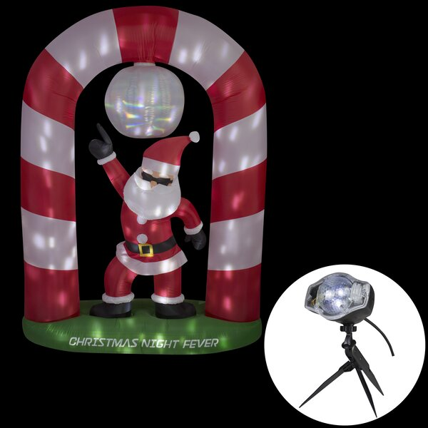 Animated Disco Santa Claus Christmas Oversized Figurine by The Holiday Aisle