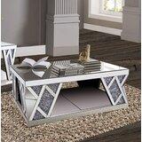 Brunson Floor Shelf 3 Coffee Table by Everly Quinn