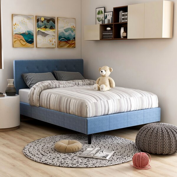 Cardin Upholstered Platform Bed by House of Hampton