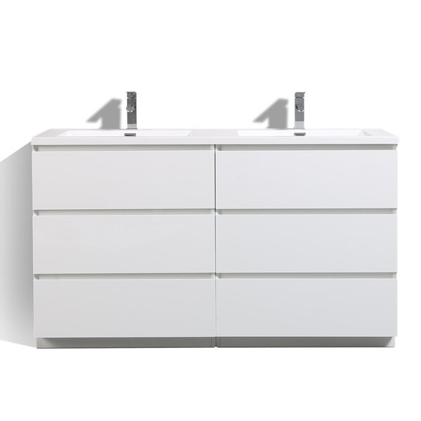 Riker Free Standing 59 Double Bathroom Vanity Set by Orren Ellis