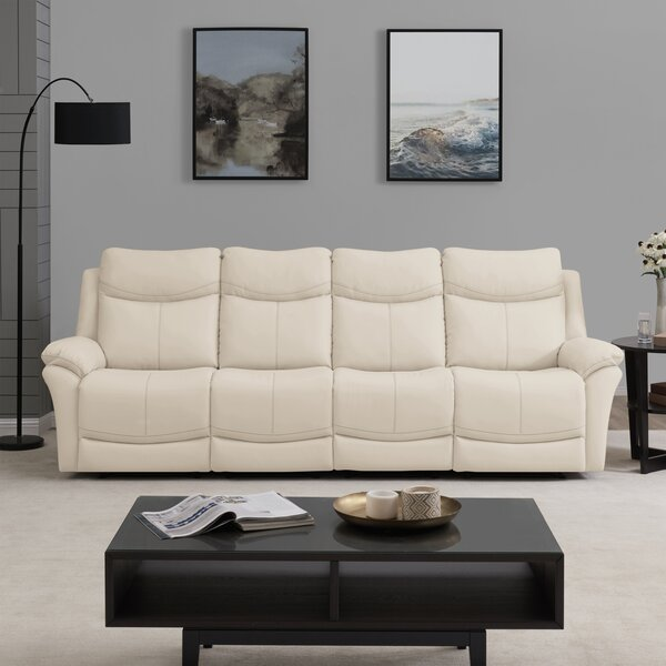 Jabari 4 Seat Wall Hugger Home Theater Sofa by Red Barrel Studio Red Barrel Studio