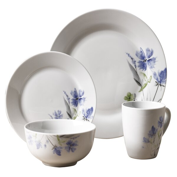 Kissane 16 Piece Dinnerware Set, Service for 4 by August Grove