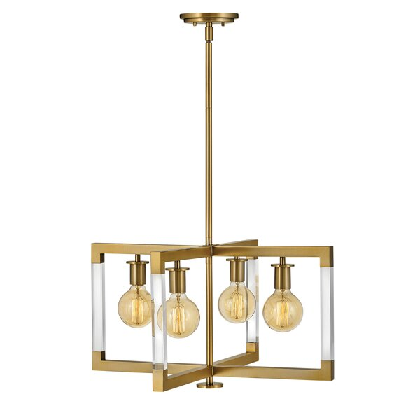 Kellen 4-Light Candle Style Geometric Chandelier By Hinkley