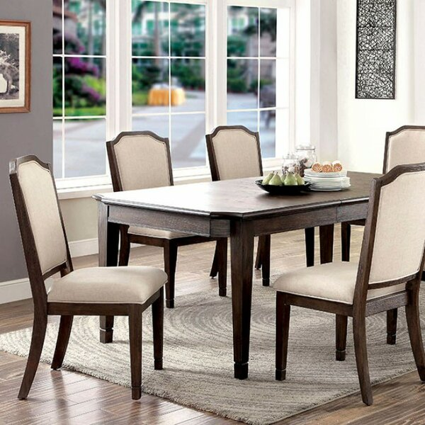 Roesch Transitional Solid Wood Dining Table by Charlton Home