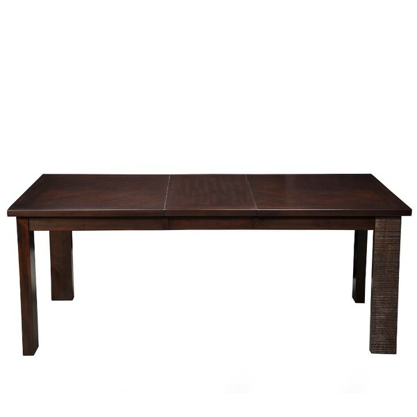 Ginnie Extension Acacia Wood Dining Table by World Menagerie