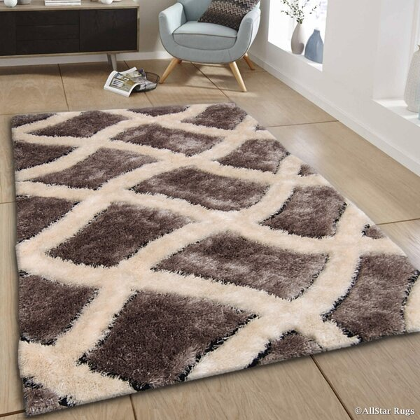 Hand-Tufted Brown/Ivory Area Rug by AllStar Rugs