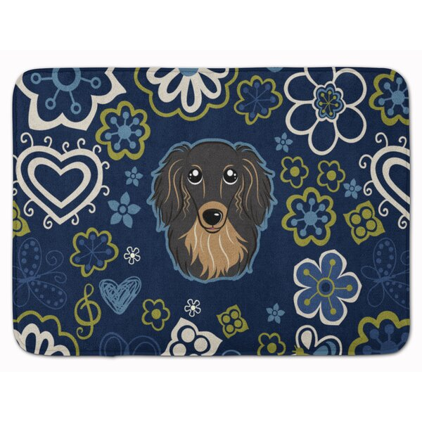 Longhair Dachshund Memory Foam Bath Rug by East Urban Home