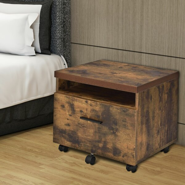 Helder Wooden 1-Drawer Lateral Filing Cabinet