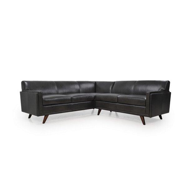 Ari Leather Sectional by Corrigan Studio