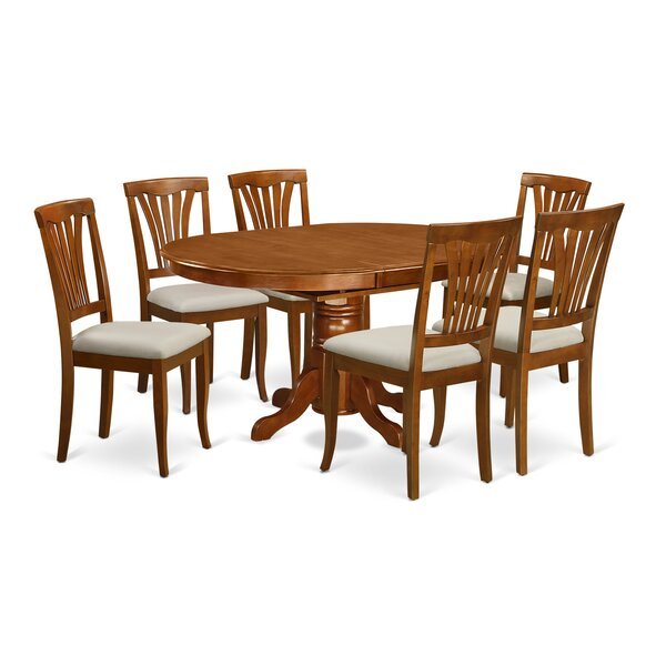 Bargain Square 7 Piece Extendable Solid Wood Dining Set By August Grove Wonderful