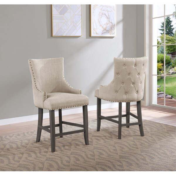 Turrell Tufted Linen Upholstered Wingback Side Chair (Set of 2) by Canora Grey Canora Grey