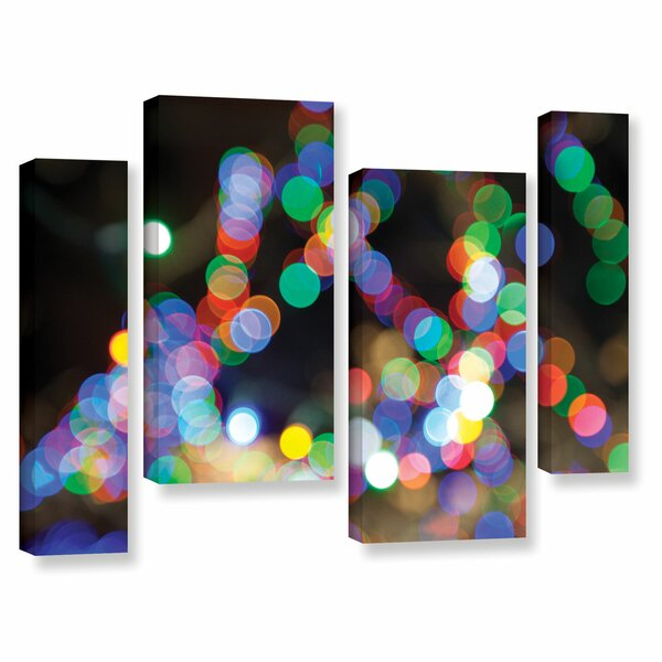 Bokeh 1 by Cody York 4 Piece Graphic Art on Wrapped Canvas Set by ArtWall