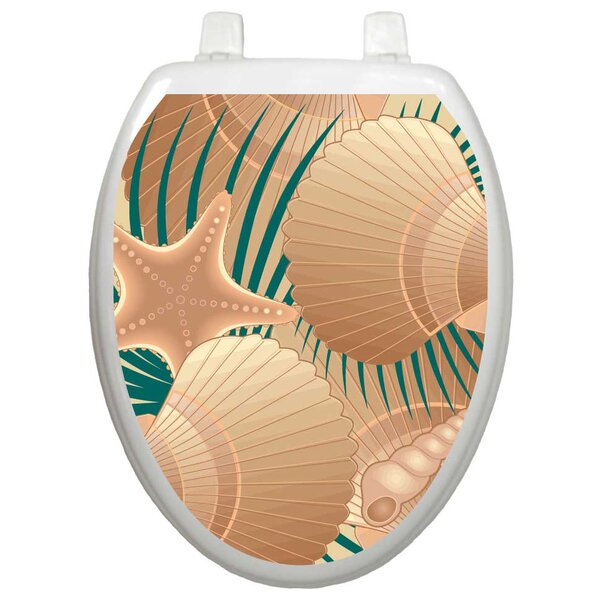 Themes Found On The Beach Toilet Seat Decal by Toilet Tattoos