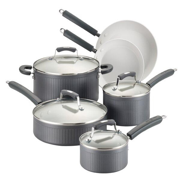 Savannah Hard-Anodized Nonstick 10 Piece Cookware Set by Paula Deen