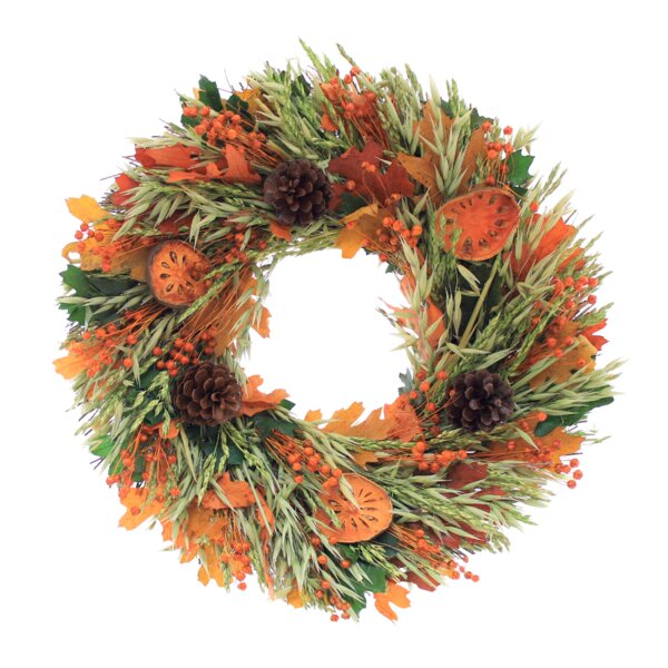 Tuscan Foliage Natural Element Wreath by Floral Treasure