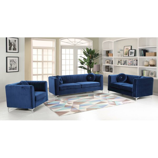 Elmore 3 Piece Living Room Set by Mercer41