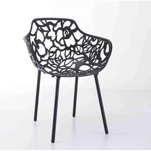 Plumley Stacking Patio Dining Chair by Wrought Studio