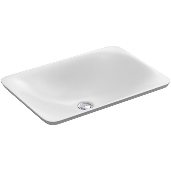 Carillon Ceramic Rectangular Vessel Bathroom Sink by Kohler