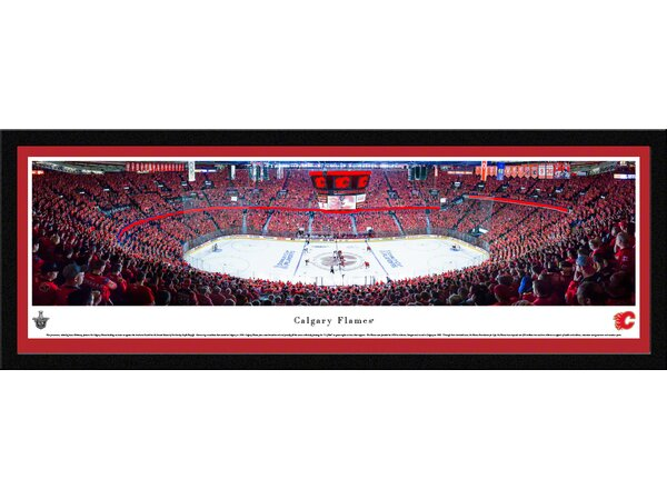 NHL Calgary Flames by James Blakeway Framed Photographic Print by Blakeway Worldwide Panoramas, Inc