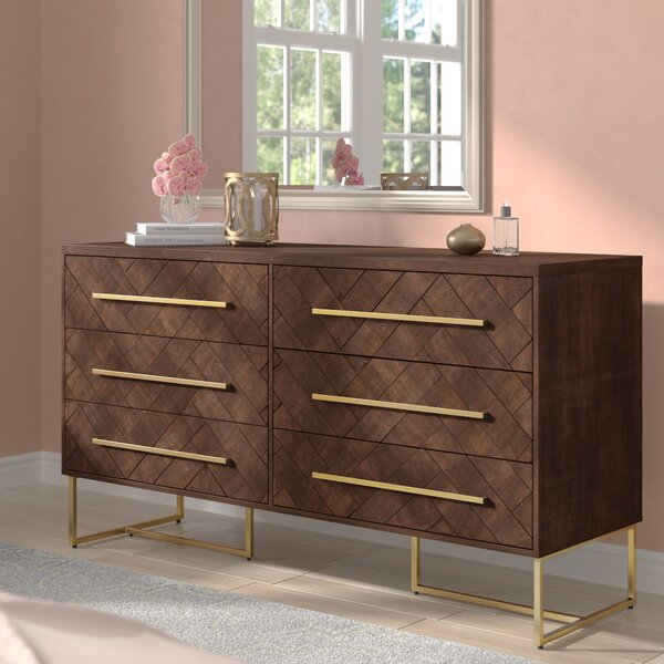 William 6 Drawer Double Dresser by Modern Rustic Interiors
