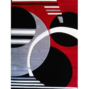 Geo Hand-Tufted Red Area Rug ByRug Factory Plus